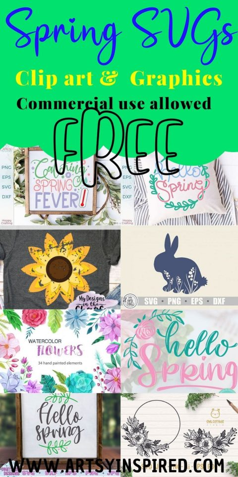 Free Spring Svgs And Clip Art Artsyinspired